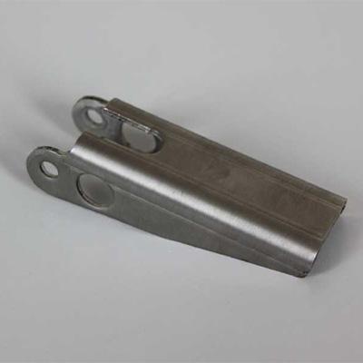 Stanz-Nibbelteil, Umformung auf der Biegepresse mit Sonderwerkzeug